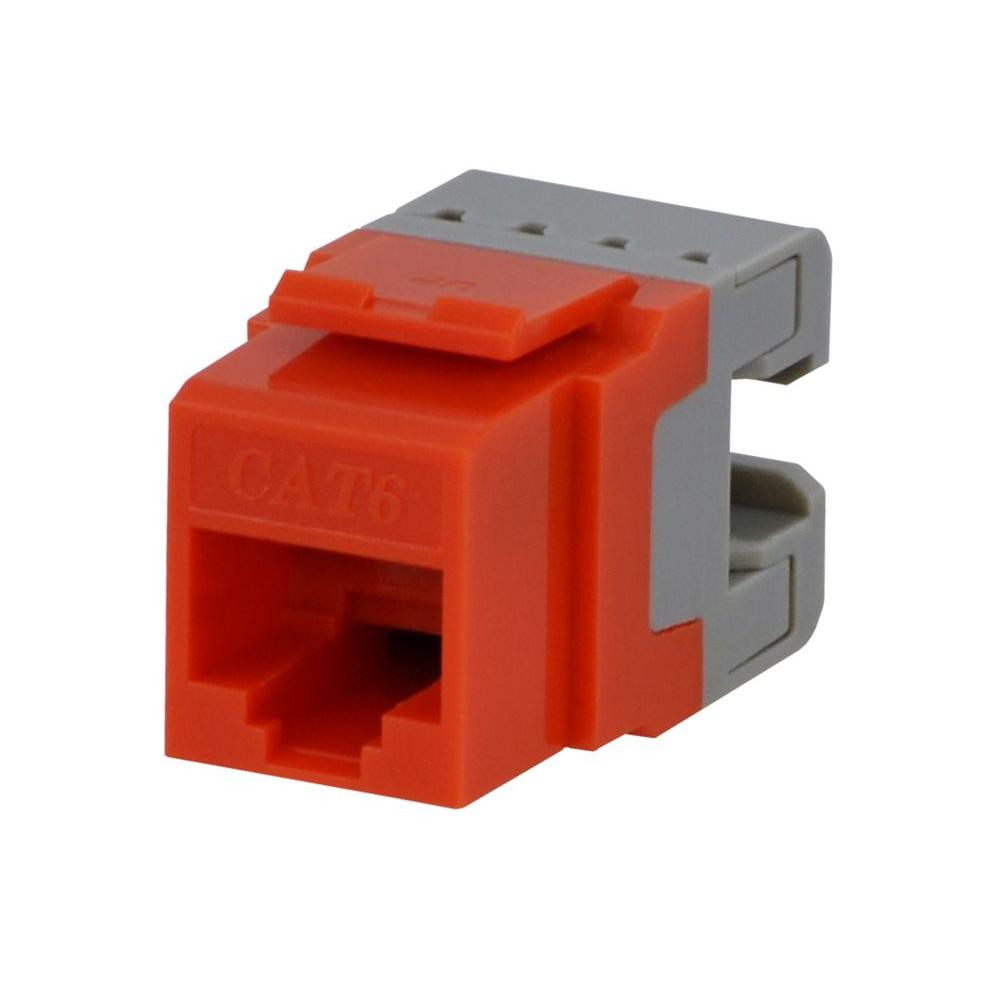 Commercial Electric Category 6 Jack - Orange