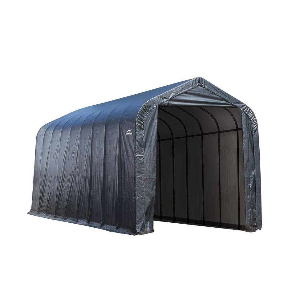 Attrayant ShelterLogic 16 Ft. X 36 Ft. X 16 Ft. Grey Steel And Polyethylene
