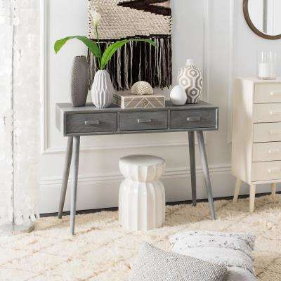 Albus 3-Drawer Slate Gray Console Table