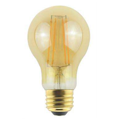 ProLED Filament LED 60-Watt Equivalent Warm White Amber A19 Dimmable LED Antique Vintage Style E26 Light Bulb