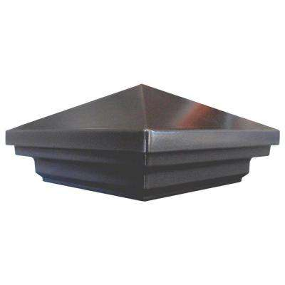 3.5 in. x 3.5 in. Aluminum Charcoal Pyramid Post Cap