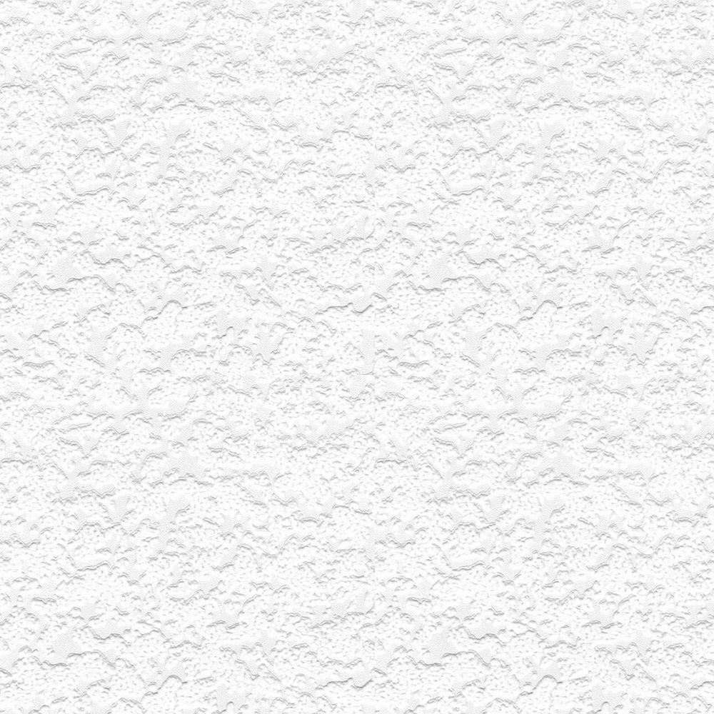 56 sq. ft. Heavy Stipple Paintable White Wallpaper