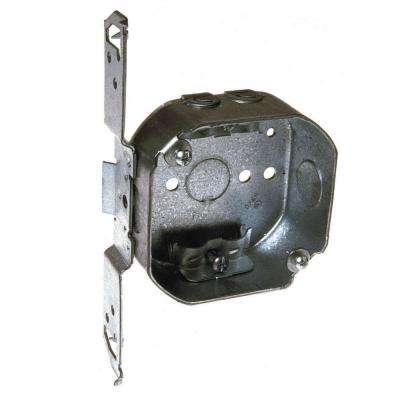 4 in. Drawn Octagon Electrical Box with NMSC Clamps and Bracket