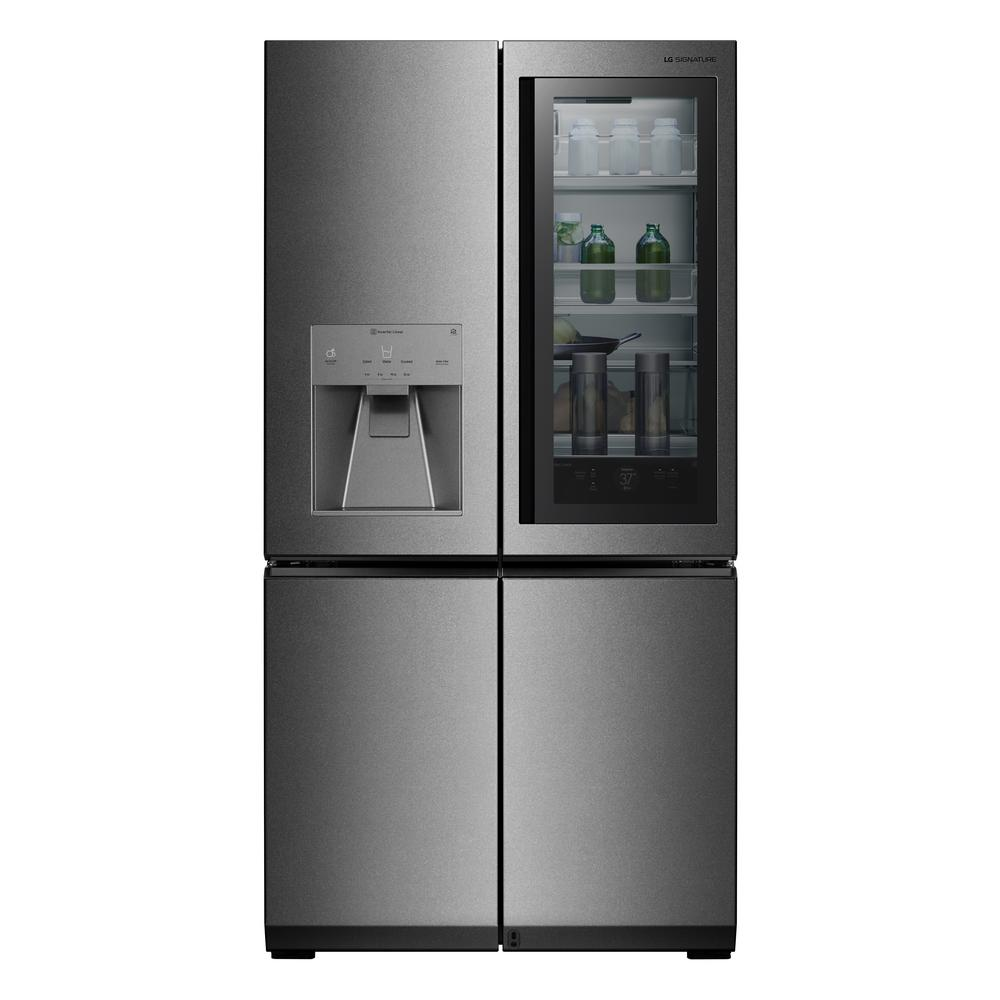 LG SIGNATURE 23 cu. Ft. French Door Smart Refrigerator with InstaView Door-in-Door and WiFi Enabled in Stainless Steel, Counter Depth