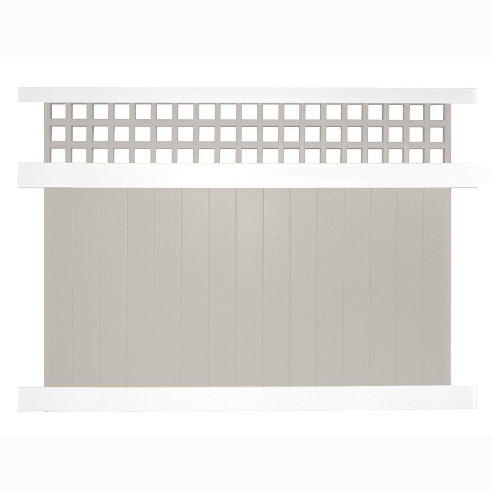 weatherables scottsdale 6 ft h x 8 w twotone vinyl privacy two tone vinyl privacy fence14 privacy