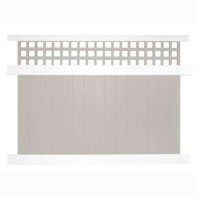 Scottsdale 6 ft. H x 8 ft. W Two-Tone Vinyl Privacy Fence Panel Kit