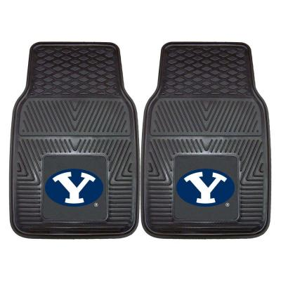 Brigham Young University 18 in. x 27 in. 2-Piece Heavy Duty Vinyl Car Mat