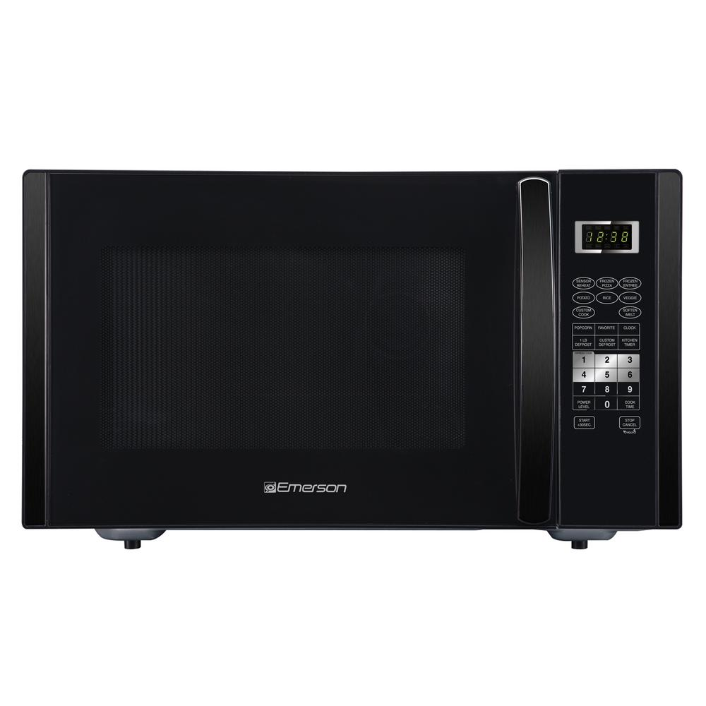 1 6 Cu Ft 1000 Watt Countertop Microwave With Sensor Cooking In Black Stainless Steel
