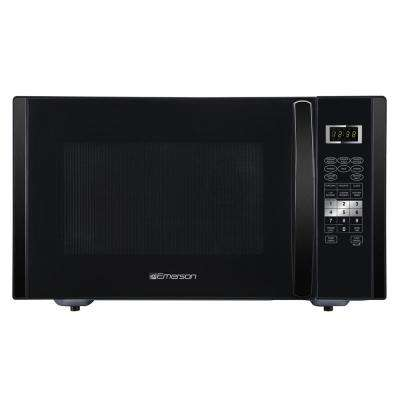 1.6 cu. ft., 1000-Watt Countertop Microwave with Sensor Cooking in Black Stainless Steel