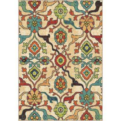 Punjab Multi Fl Bright Colors 8 Ft X 11 Indoor Area Rug