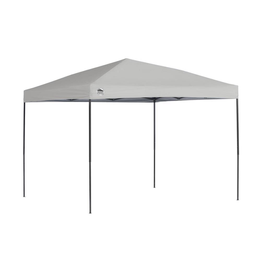 ST100 Shade Tech 10 ft. x 10 ft. Grey Straight Leg Canopy