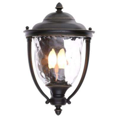 Prestwick Collection 3-Light Oil-Rubbed Bronze Outdoor Wall Lantern