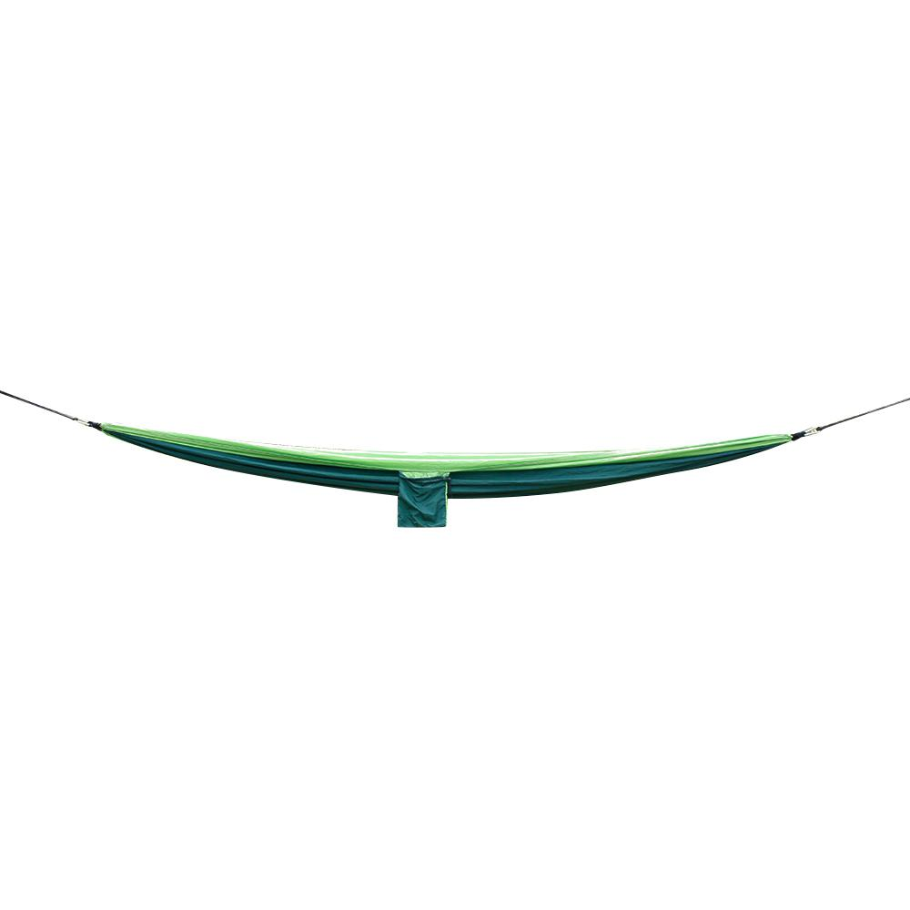 8.5 ft. AT6737 Nylon Parachute Fabric Double Hammock in Dark Green