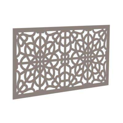 4 ft. x 2 ft. Greige Fretwork Polymer Decorative Screen Panel