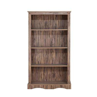 Wren Maple Veneer Simplicity Bookcase with 4-Shelves