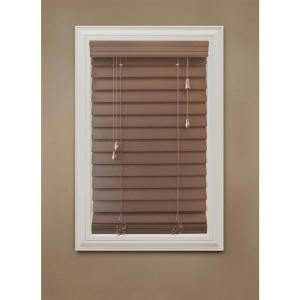 home decorators collection maple 2-1/2 in. premium faux wood blind