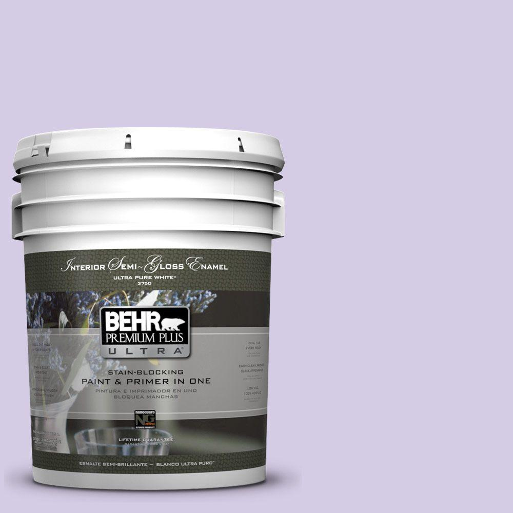 5 gal. #640A-3 Potentially Purple Semi-Gloss Enamel Interior Paint and Primer