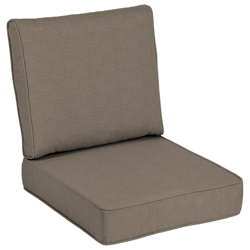 Ordinaire 24 X 24 Outdoor Lounge Chair Cushion In Sunbrella Cast Shale