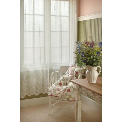 Floret 63 in. L Polyester Valance in White