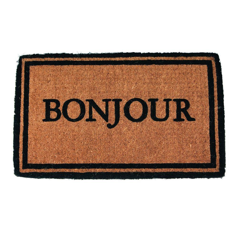 Bonjour 18 in. x 30 in. Extra Thick Hand Woven Coir Door Mat