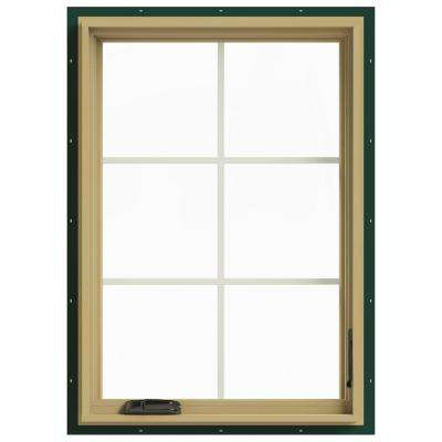 28 in. x 40 in. W-2500 Right Hand Casement Aluminum Clad Wood Window