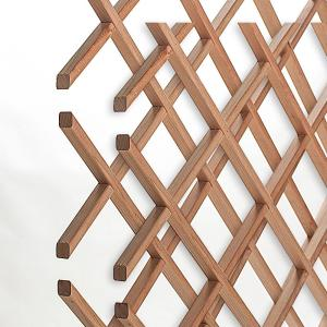 American Pro Decor 18-Bottle Trimmable Wine Rack Lattice Panel Inserts in Unfinished Solid... by American Pro Decor