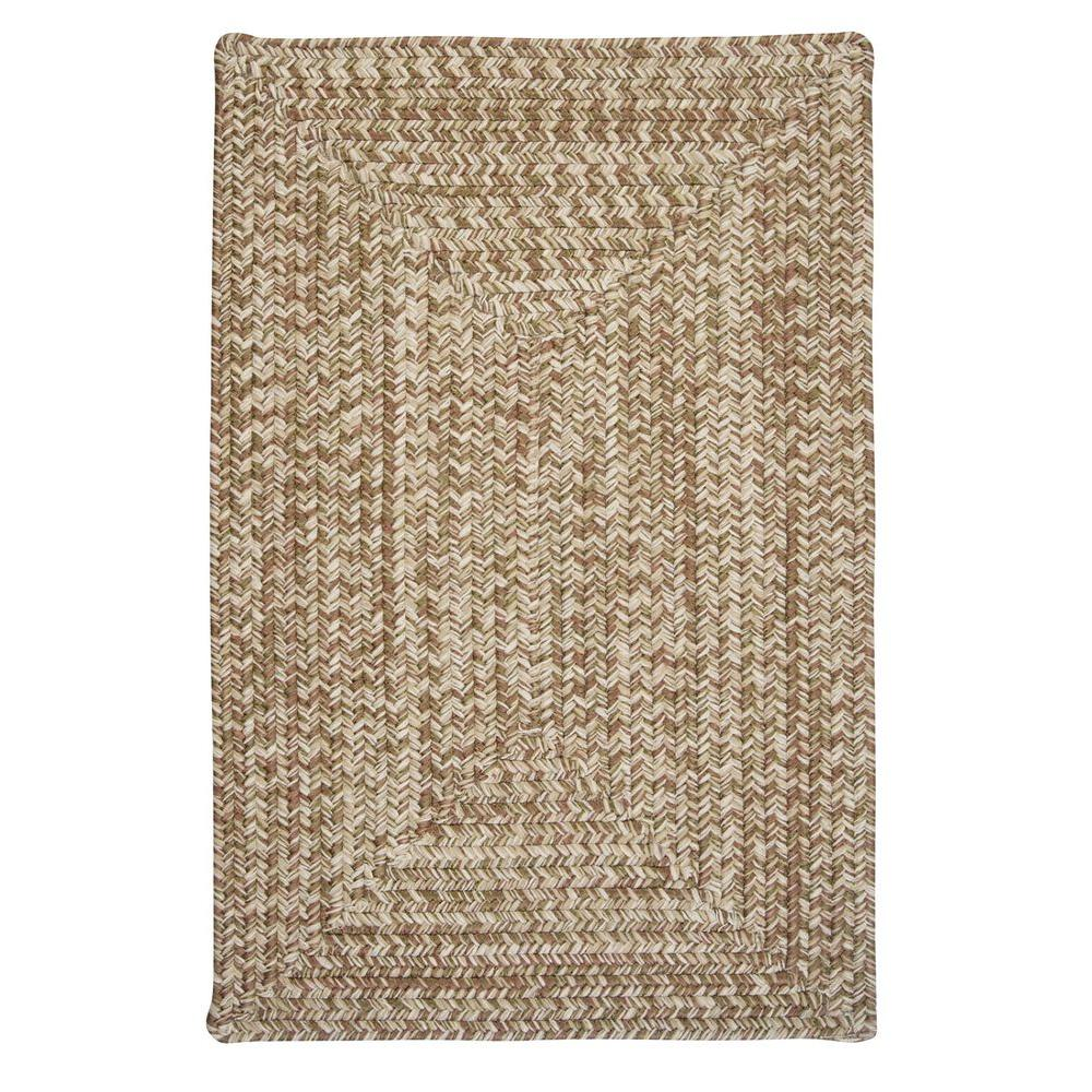 Wesley Moss Green 2 ft. x 3 ft. Rectangle Braided Accent