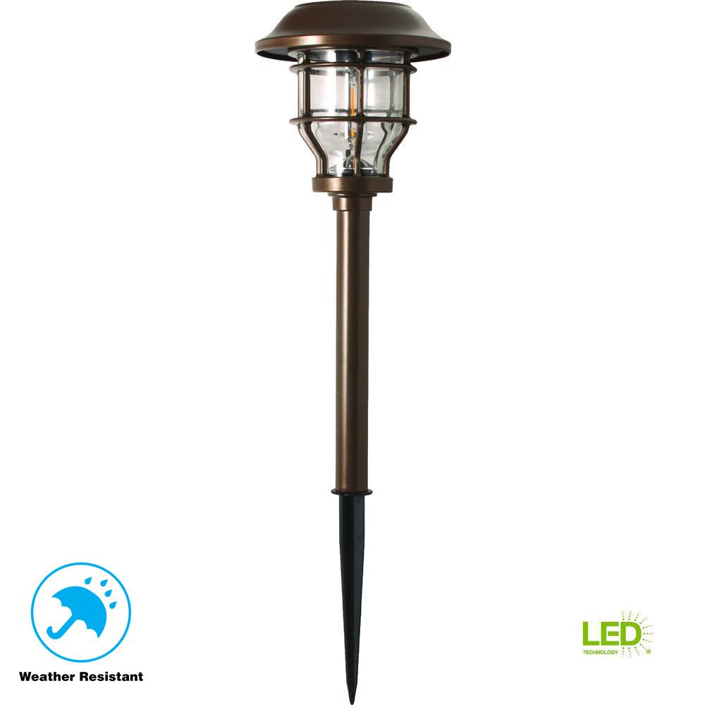 Solar Brass Outdoor Integrated LED 2500K 10-Lumens Vintage Bulb Landscape
