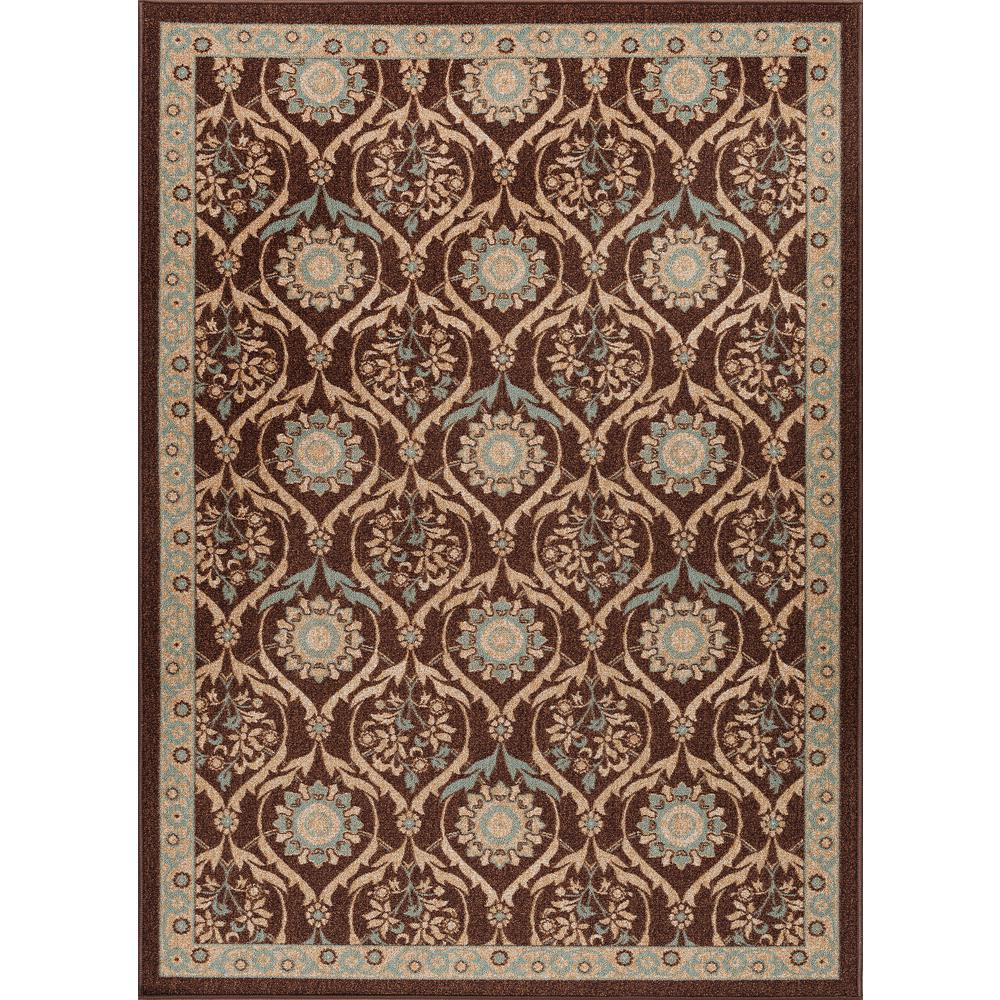 Majesty Brown 5 ft. x 7 ft. Transitional Area Rug