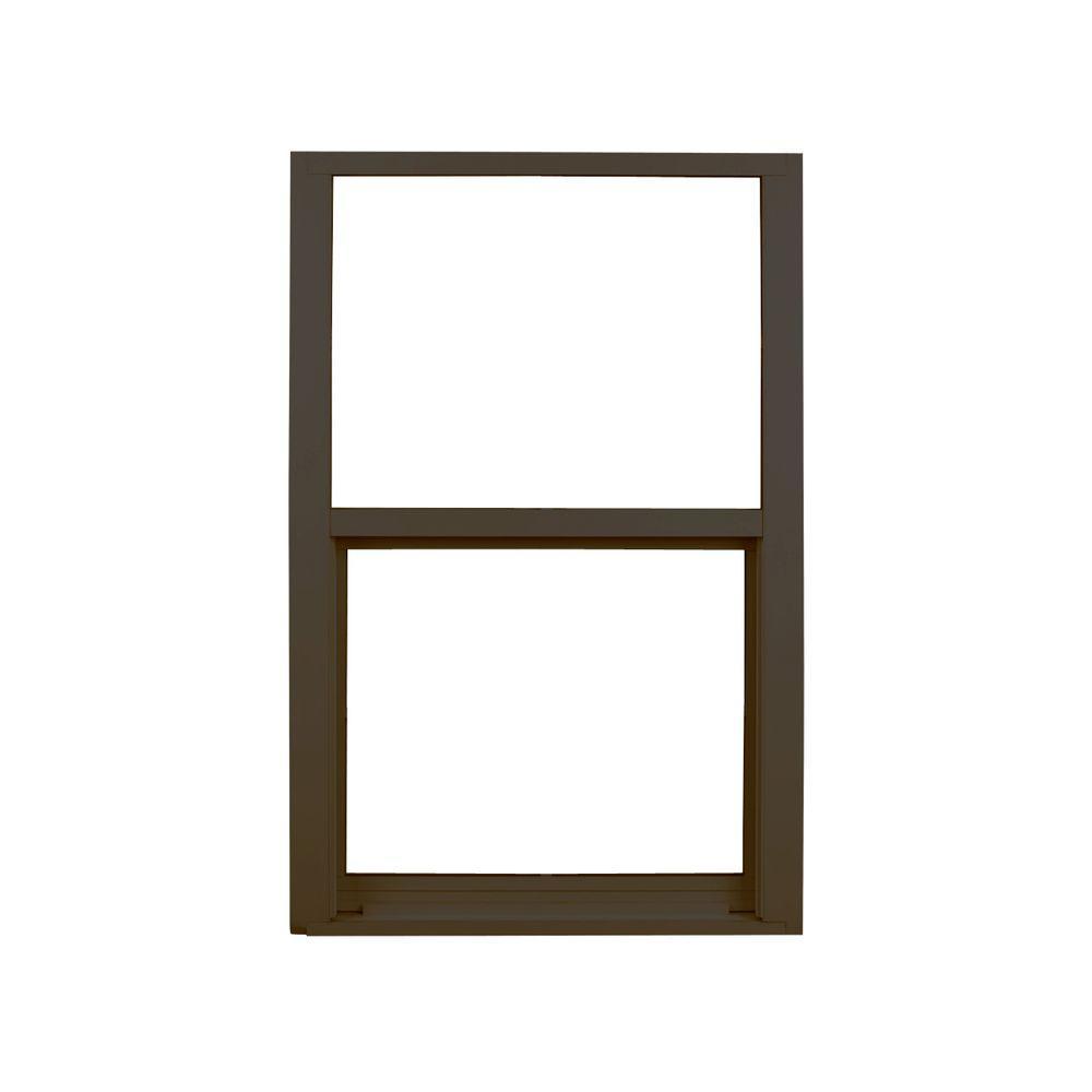 Ply Gem 37 In X 38 375 Single Hung Aluminum Window Bronze