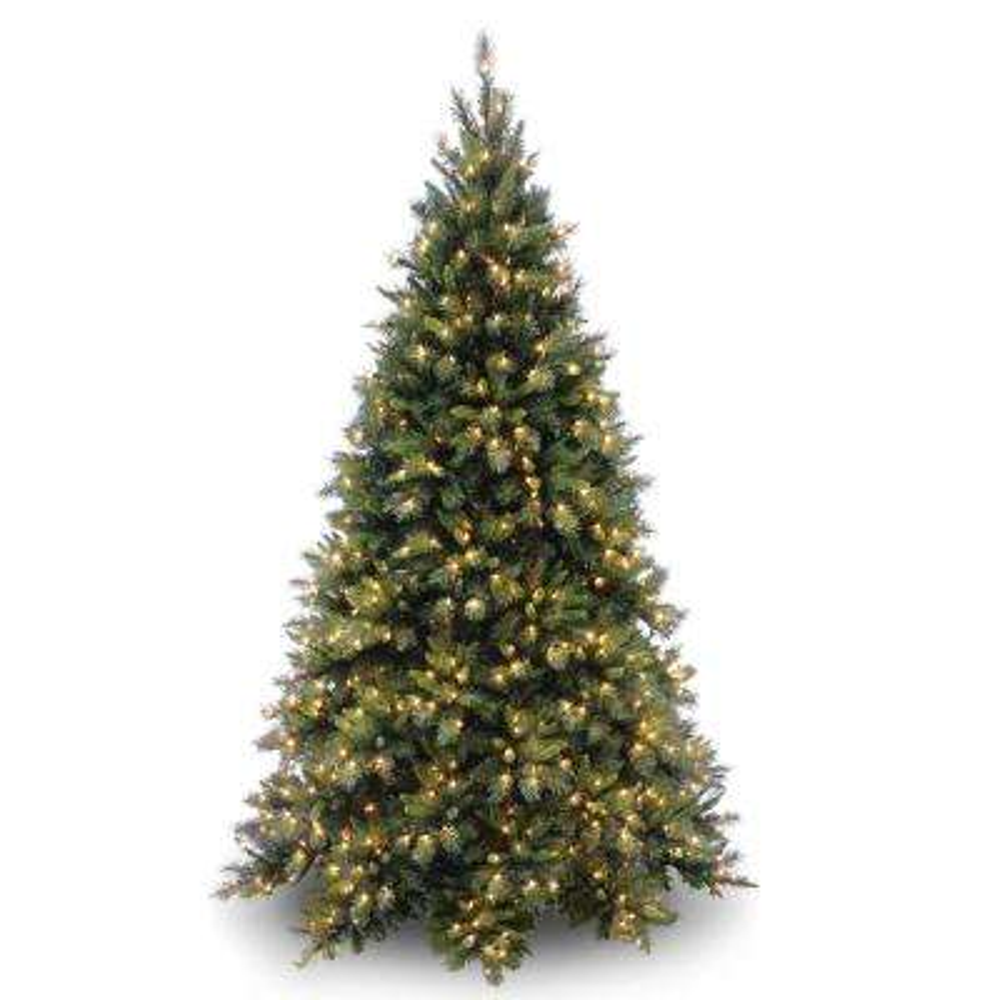 6-1/2 ft. Tiffany Medium Fir Hinged Tree with 600 Clear Lights