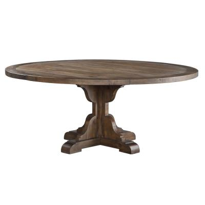 Round Seats 6 Kitchen Dining Tables Kitchen Dining Room Furniture The Home Depot