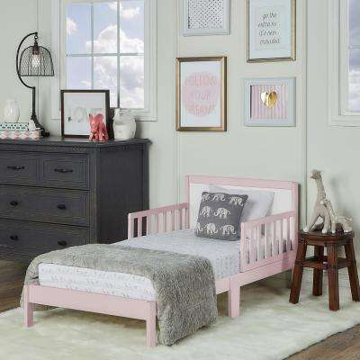 Brookside Blush Pink and White Toddler Adjustable Bed