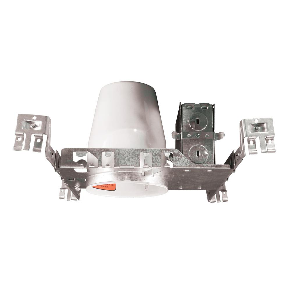 NICOR 4 in. Non-IC New Construction Recessed Housing for GU10 MR-16