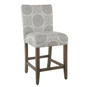 Fine Homepop Parsons 24 In Gray Medallion Bar Stool K6858 24 Gmtry Best Dining Table And Chair Ideas Images Gmtryco