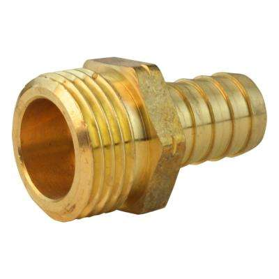 5/8 in. x 3/4 in. MGH Lead-Free Brass Hose Barb Adapter