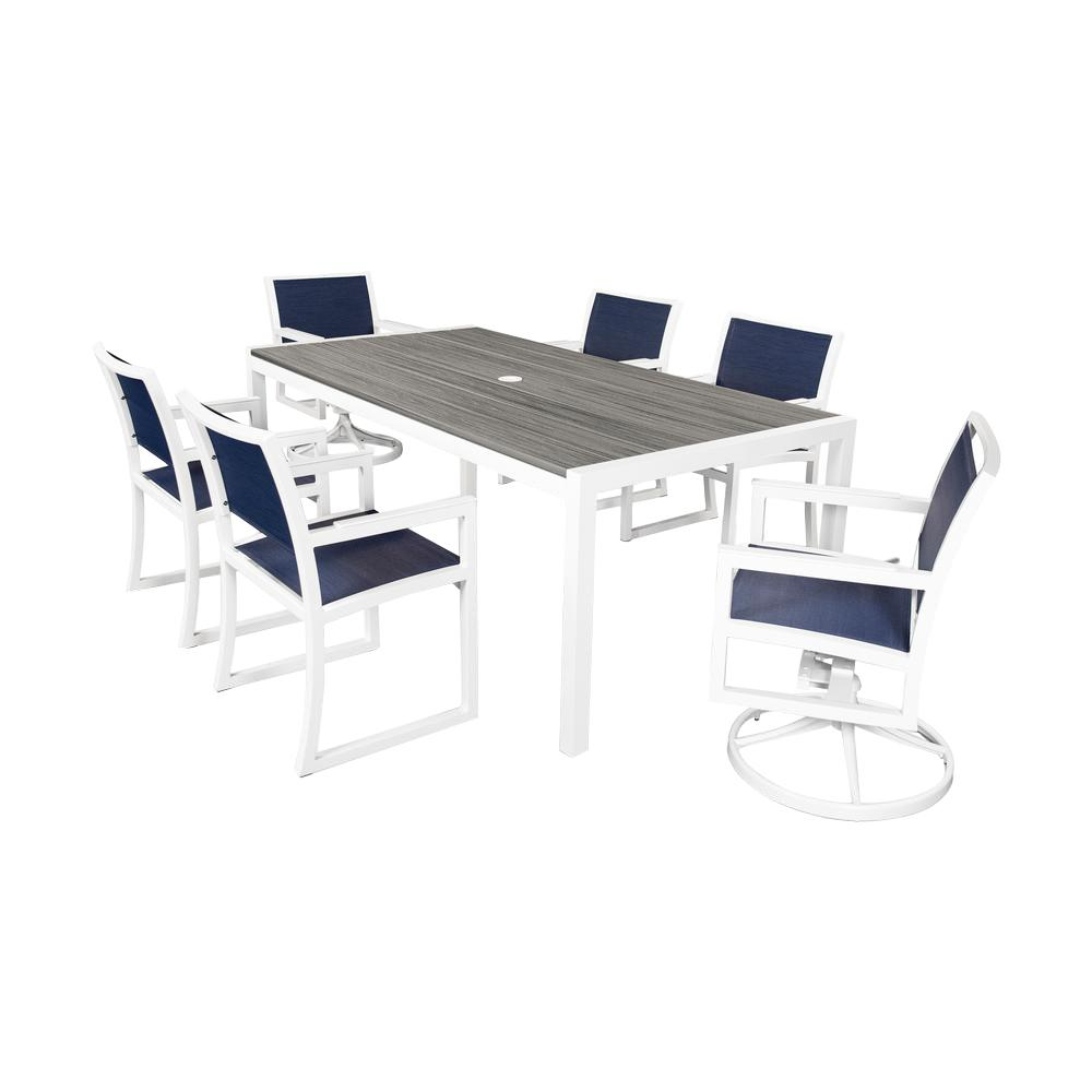 Trex Outdoor Furniture Parsons 7-Piece Plastic Outdoor Pa...