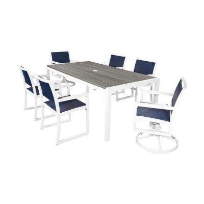 parsons 7piece plastic outdoor patio dining set trex outdoor furniture