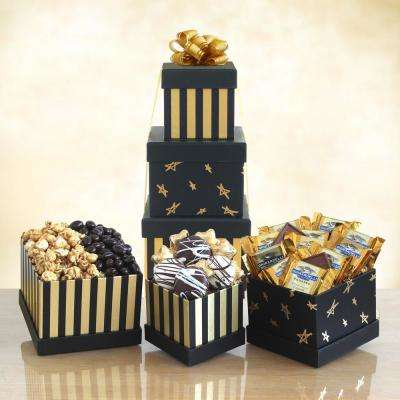 Black and Gold Elegance Chocolate Tower