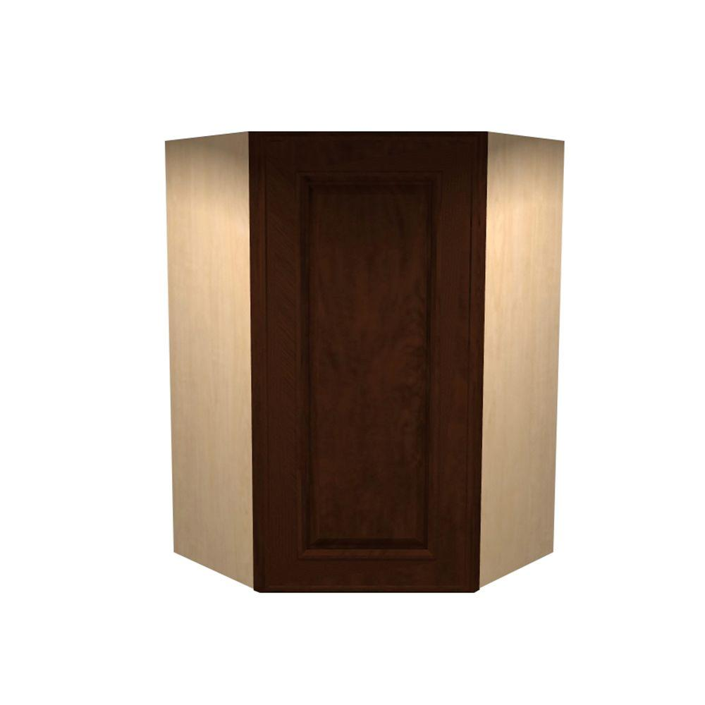 Home Decorators Collection Roxbury Assembled 27x36x15 in. Single Door Hinge Left Wall Kitchen Angle Cabinet in Manganite