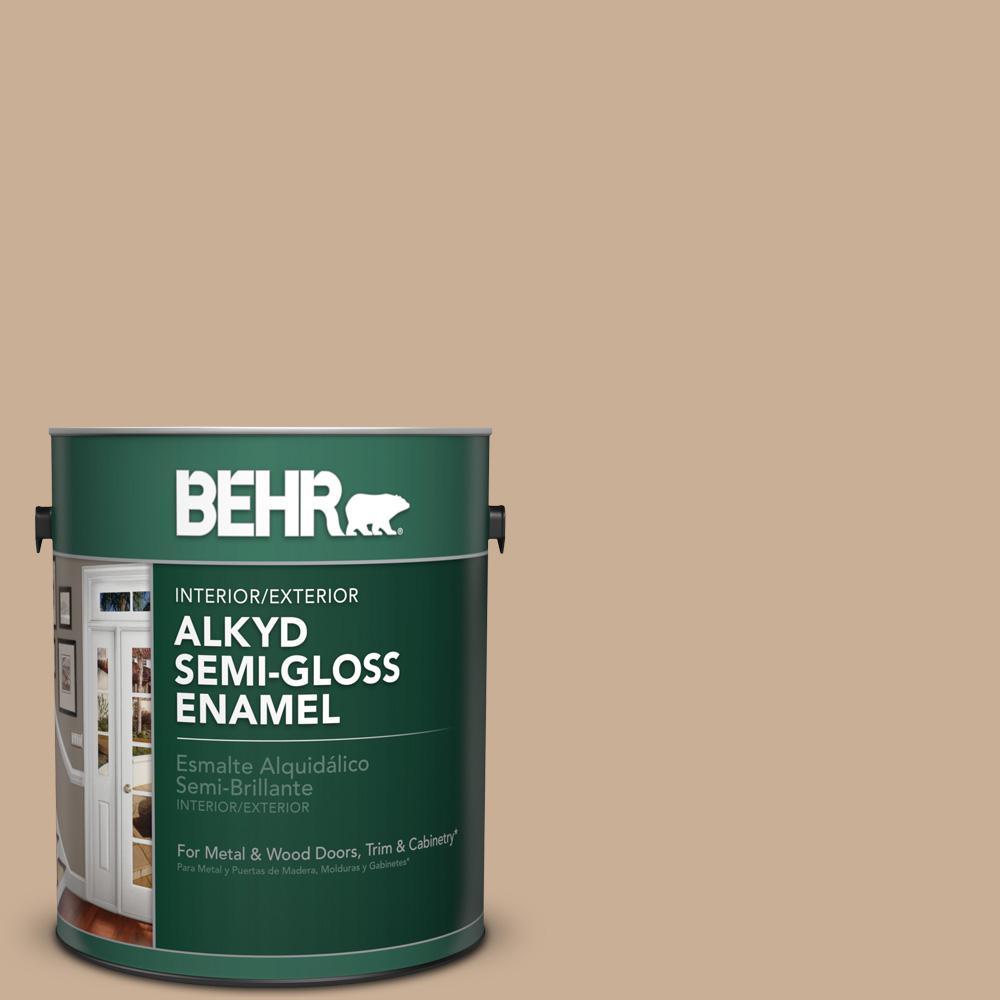 1 gal. #N260-3 Polo Tan Semi-Gloss Enamel Alkyd Interior/Exterior Paint