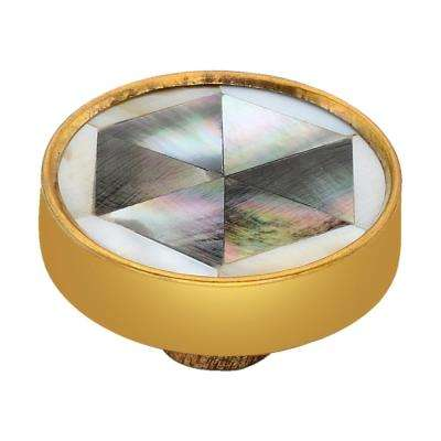 Hexagon 1-3/5 in. Mother of Pearl Effect Cabinet Knob