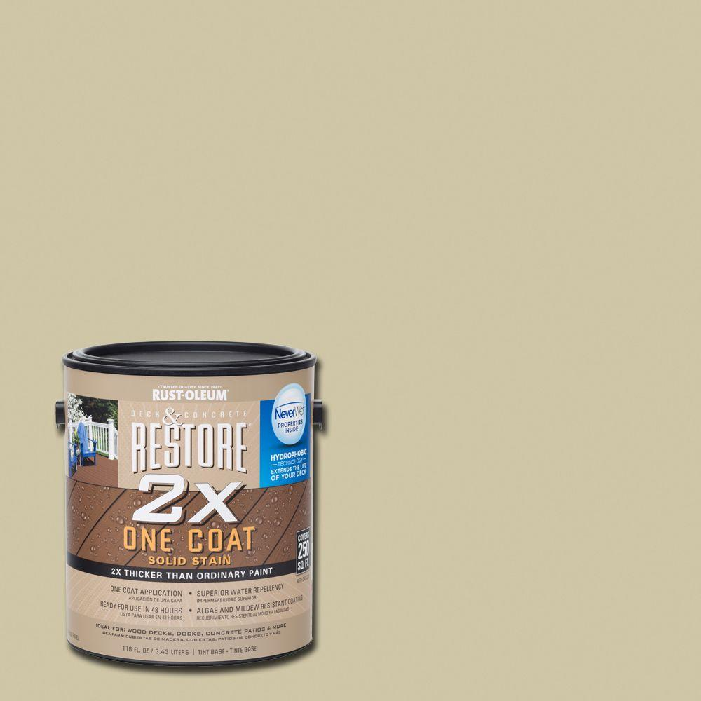 Rust-Oleum Restore 1 gal. 2X Beach Solid Deck Stain with NeverWet
