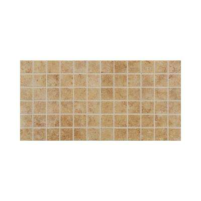 Fidenza Dorado 12 in. x 24 in. x 8 mm Porcelain Mesh-Mounted Mosaic Floor and Wall Tile (24 sq. ft. / Case)