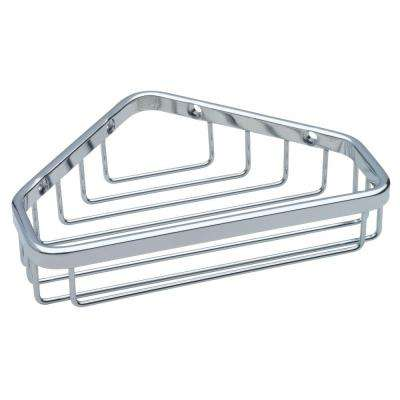 Small Wire Corner Shower Caddy in Bright Stainless