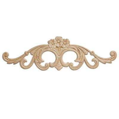 DM 574 - 4-1/4 in. x 1/4 in. x 14-1/4 in. Birch Applique Moulding for Walls and Mantels