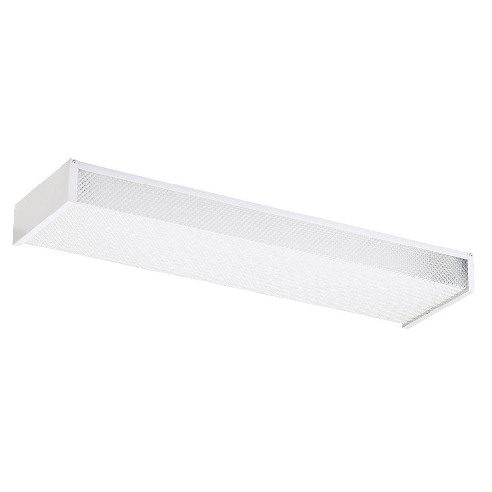 Sea Gull Lighting Drop Lens 24 in. White Recessed Fluorescent Trim ...
