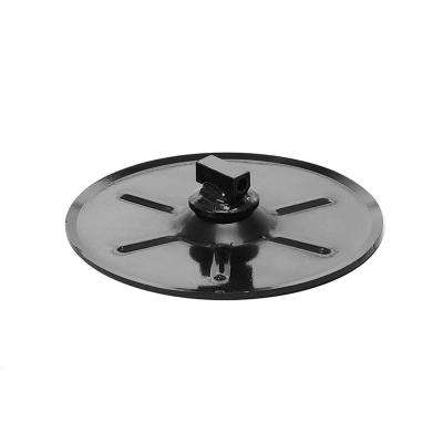 9 in. Round Foot Pad PC Black for Landing Gear