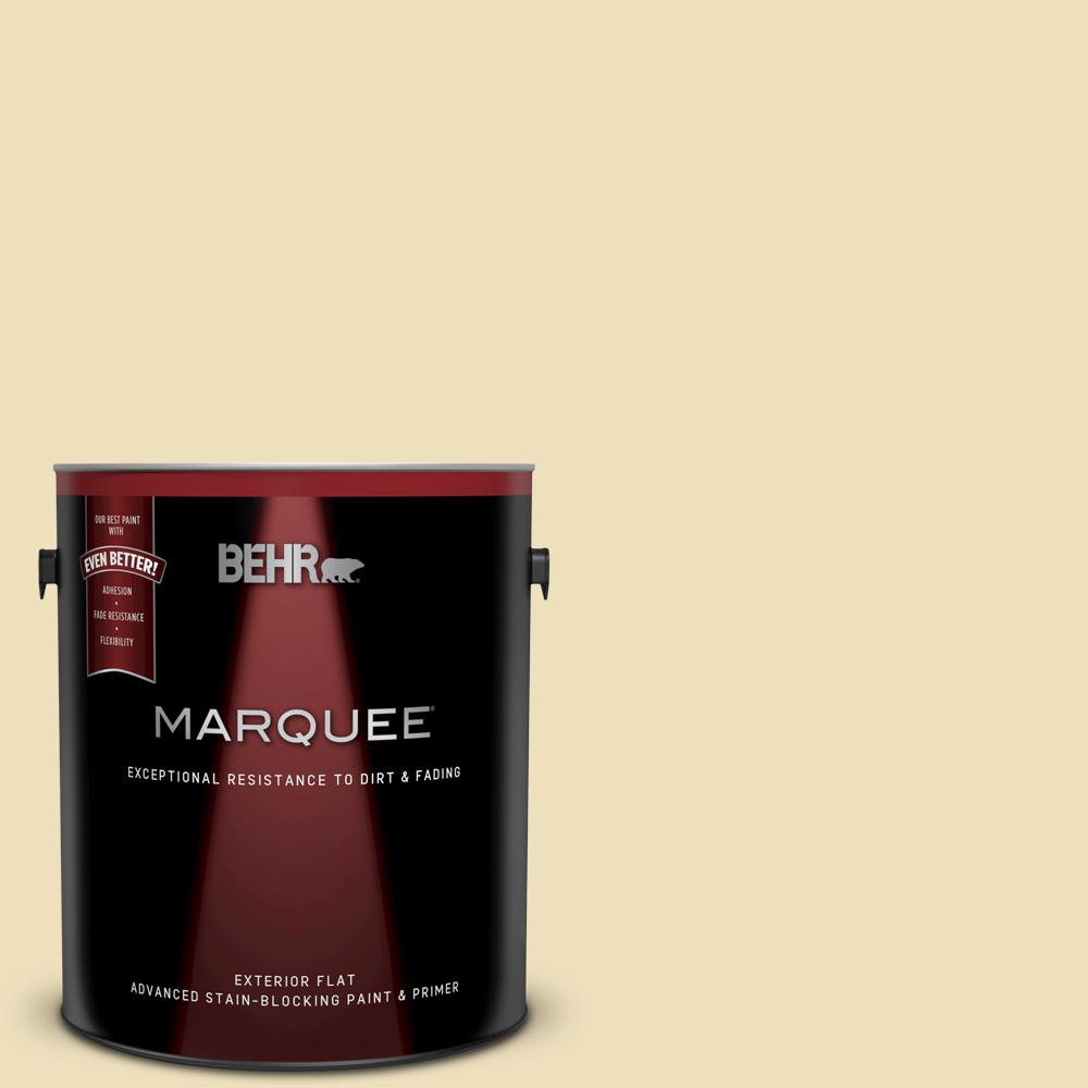 1 gal. #380E-3 Satin Souffle Flat Exterior Paint and Primer in