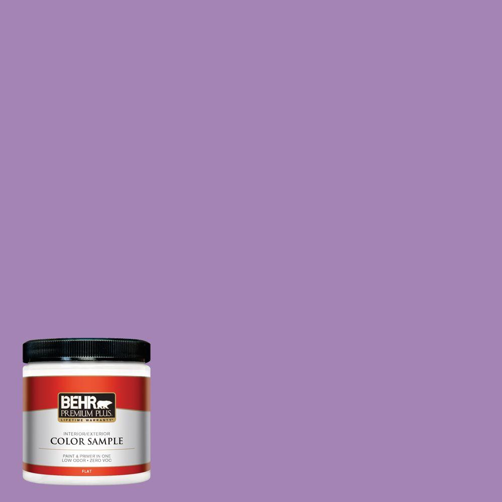 Purple-Exterior-Gloss-Paint. 660b 6 Daylight Lilac Flat Zero Voc Interior Exterior Paint And Primer In One Sample 660b 6pp The Home Depot